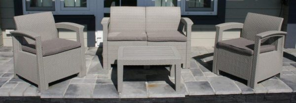 Комплект садовой мебели под ротанг IDEA SOFT 4 из пластика